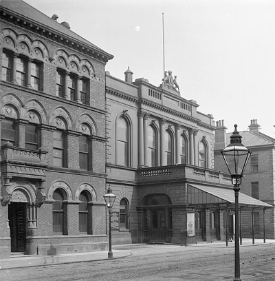 LInen House and the Ulster Hall.